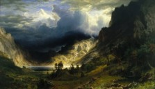 """Storm in the Rocky Mountains"", Mount Rosalie/Evans; By Albert Bierstadt, 1886"