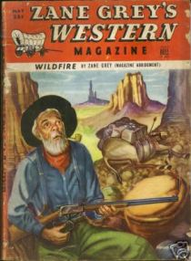 Wildfire, Escape, Zane Greys Western Magazine, May 1949, Vol.3, No.3: Scars, The Man Who Rode Back | Source: abebooks.com