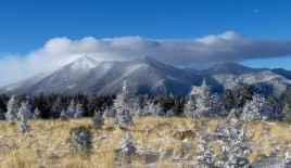 The San Francisco Peaks as viewed from Elden Mountain; Credit: Tyler Finvold, 30 November 2006