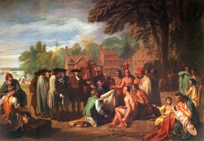 Treaty William Penn with the Lenni Lenapes; Artist: Nathaniel Currier
